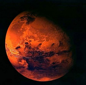 A photo of the red planet, Mars